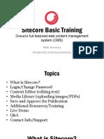 Sitecore Basic Training