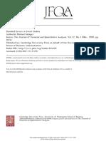 Standard Error in Event Studies