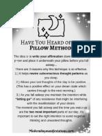 rewire subconscious mind using pillow