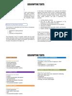 Descriptive texts - Structure and Language