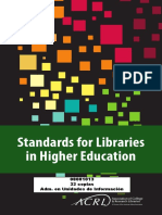 AMERICAN LIBRARY ASSOCIATION - The Standards for Libraries in Higher Education