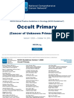 NCCN - Cancer of Unknown Primary-Occult Primary