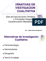 Alternativas de Investigacion Cualitativa