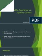 Control vs Quality Assurance