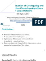 XMeasures - Accuracy Evaluation of Overlapping and Multi-resolution Clustering Algorithms on Large Datasets