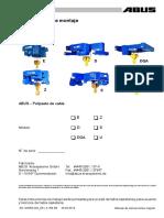 AN120055.002 - Instrucciones de Montaje Polipasto de Cable