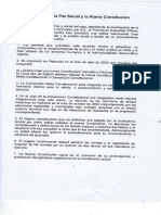 """""""Acuerdo por la Paz Social y la Nueva Constitución"""". Representantes de los partidos políticos de Chile, 15 de noviembre de 2019."""