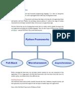 Top 10 Frameworks of Python