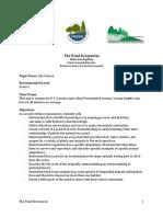 The Pond Ecosystem Grade 3 Unit