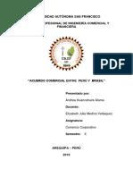 Acuerdo de Comercio Peru Con Brasil