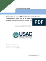 Política y Planeamiento Educativo Guatemala