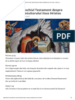 Profeţii Din Vechiul Testament Despre Naşterea Mântuitorului Iisus Hristos - Basilica.ro