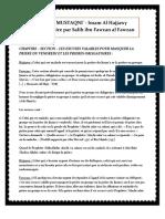 Zad-Al-mustaqni-chap.23-Section-les Excuses Qui Permettent de Ne Pas Assister Aux Priere Obligatoires en Groupe