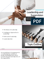 Leadership and supervision