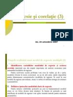 Regresie Si Corelatie - Curs 4