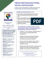 Brain States Awareness Profile Certification Winter 2020