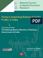 Factors Impacting Railway Freight