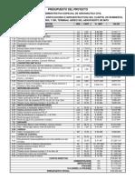 4. Presupuesto Oficial. Aeronautica Civil -Mitu.