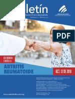 Boletin Dia Mundial Artritis Reumatoide 20181012