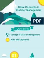 Basic concept in Disaster Management
