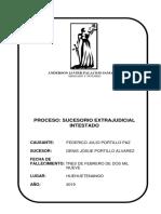 PROCESO SUCESORIO Intestado EXTRAJUDICIAL