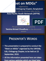 Meet on MDGs- Tanzina Ahmed Choudhury