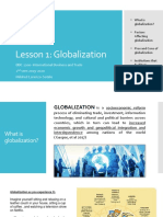 Lesson 1 What is Globalization