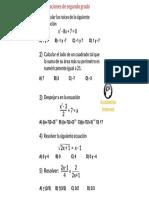 Practica de Ecuaciones de Segundo Grado