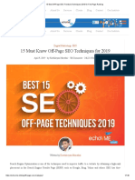 15 Best Off Page SEO Trends & Techniques 2019 for First Page Ranking