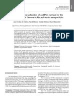 Validación de metodología para determinar fluorouracil en nanoparticulas