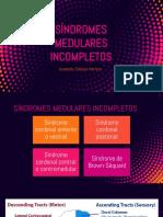 SÍNDROMES MEDULARES INCOMPLETOS CON RNM.pptx
