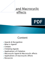 Chelate and Macrocyclic effects