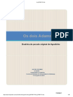 Os Dois Adão - Doutrina Do Pecado Original Em Agostinho 45 Pags