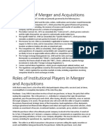 Regulation of Merger and Acquisitions