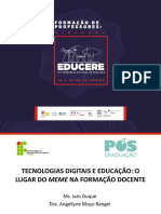 TECNOLOGIAS DIGITAIS E EDUCAÇÃO