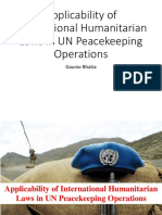 Applicability of International Humanitarian Laws in UN Peacekeeping Operations
