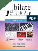 Jubilate 2018 Catalog