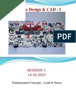 Machine Design falll 19  session 2&3