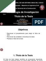 m.i. Titulo de La Tesis