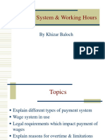 Payment System & Working Hours Chap 5