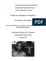 El Femicidio y Feminicidio.