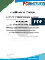 certificado modelo