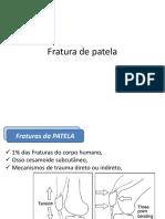 Fratura de Patela