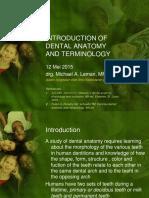 Pengantar Anatomi Gigi, Teriminologi, & Nomenklatur