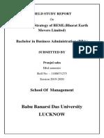 Field Study Report on beml