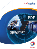 TOTAL Lubmarine Product List