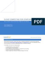 Cloud Computing for Start Ups