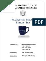 Report - Marketing Mix of Tetley Clover Final