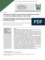 Influencia de La Edad y de Las Técnicas de Reproducción Asistida en Nuestros Resultados Obstétricos y Perinatales