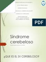 Síndrome cerebeloso
